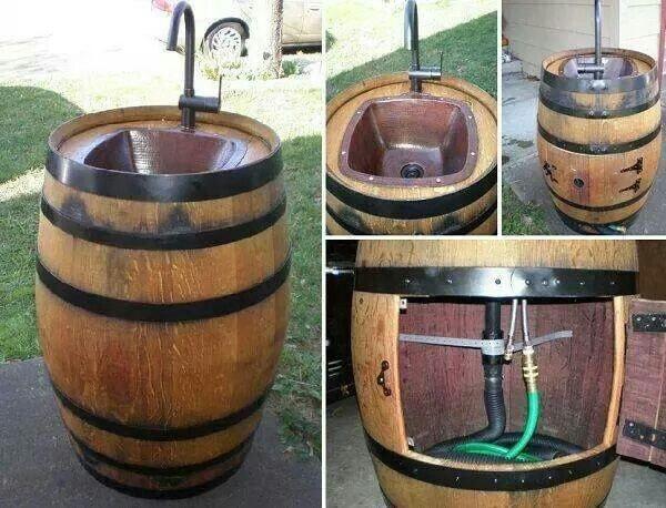 Vintage Barrel Washbasin