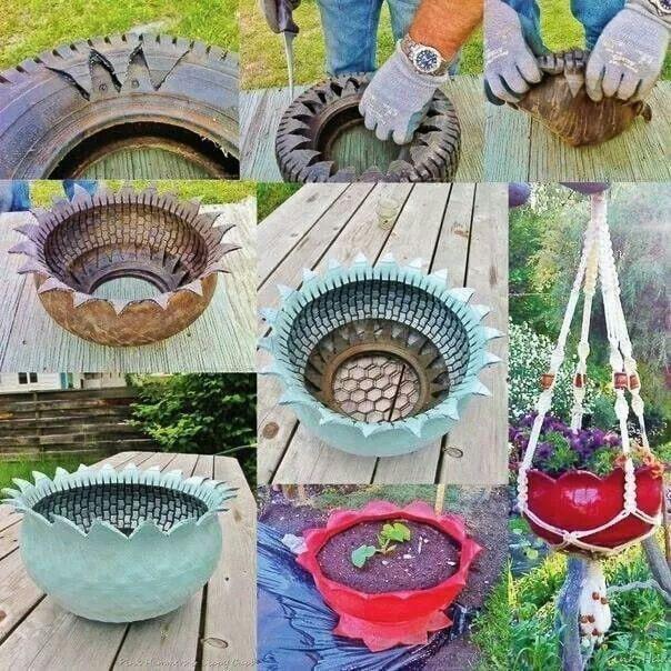 Tire Flowerpots