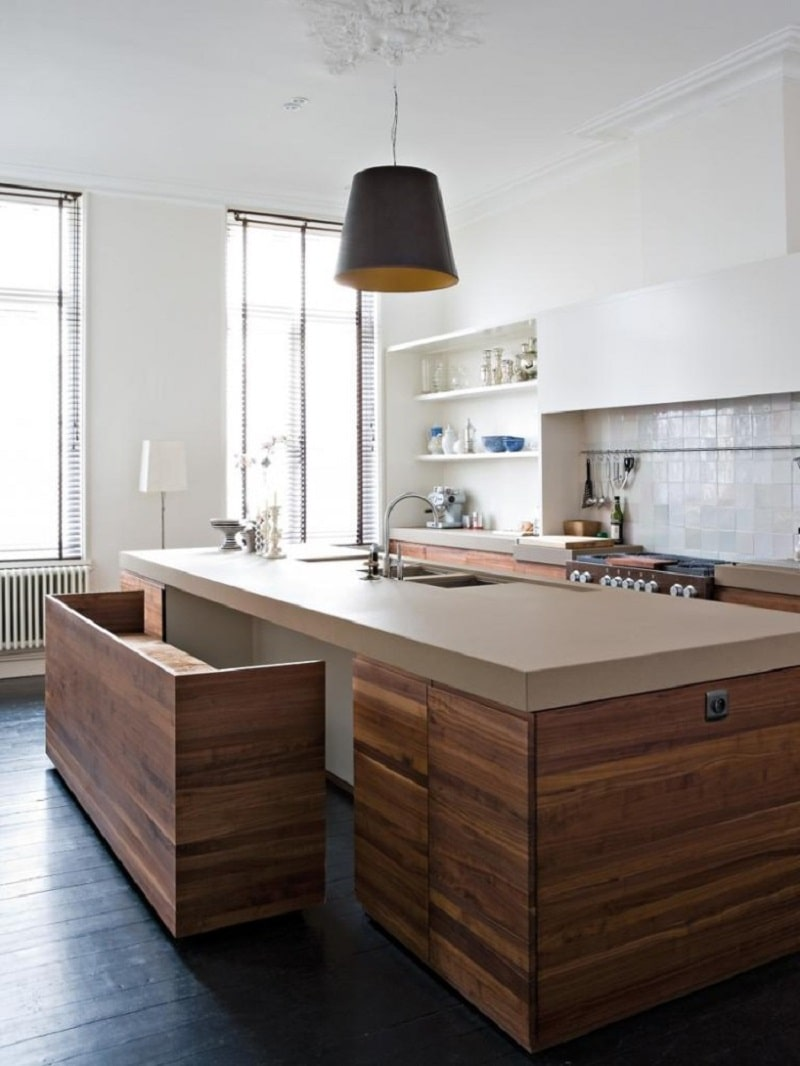 custom-made kitchen wooden seating
