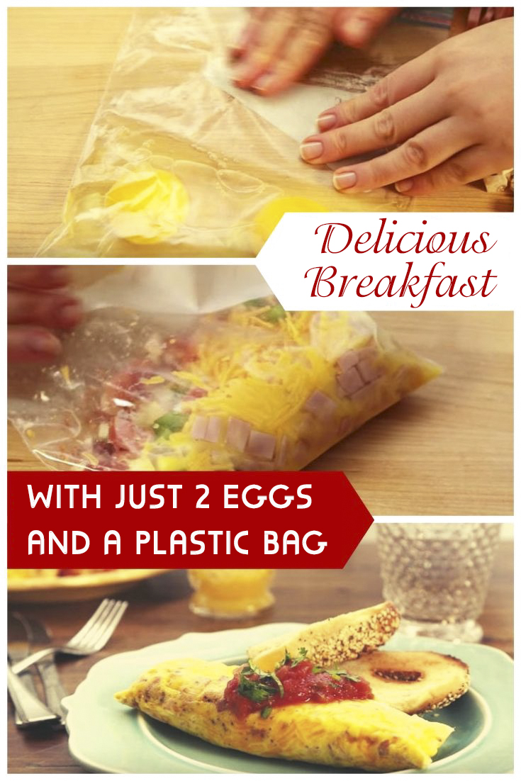 Delicious Breakfast with Just 2 Eggs and a Plastic Bag