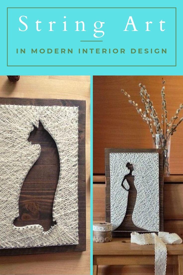 String Art in Modern Interior Design