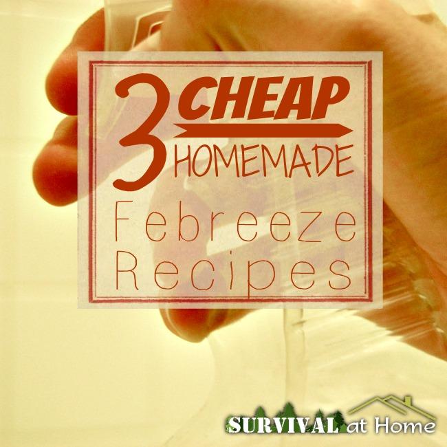 3 Cheap Homemade Febreeze Recipes