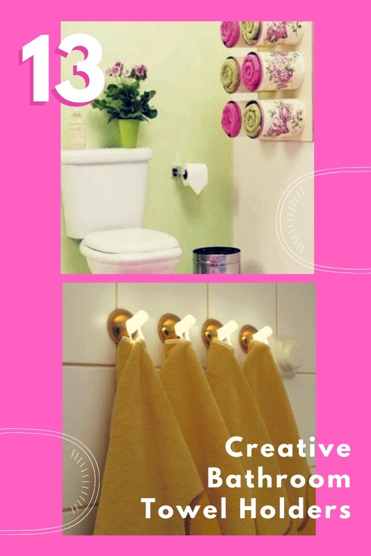 13 Creative Bathroom Towel Holders