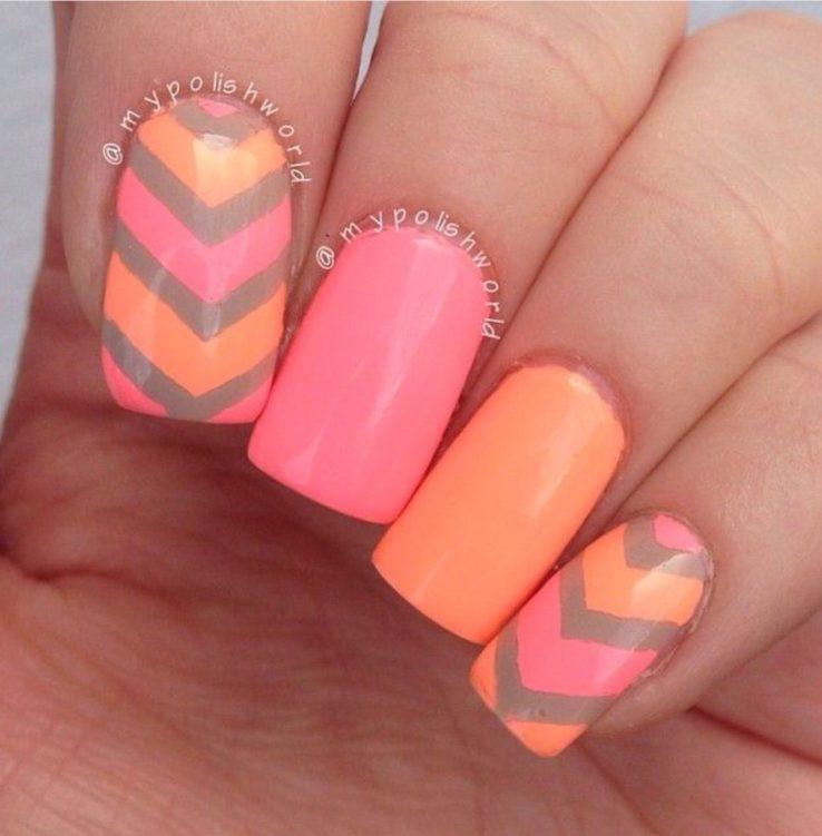 summertime summer pink nails